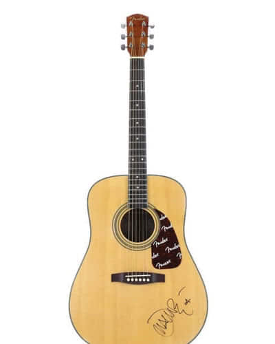 JOHN MAYER SIGNED FENDER ACOUSTIC GUITAR
